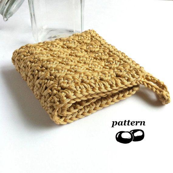 Crochet Washcloth Pattern / Crochet Flannel / por LittleConkers