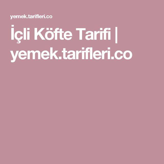 İçli Köfte Tarifi | yemek.tarifleri.co