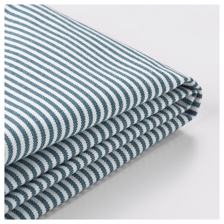 IKEA - STOCKSUND Armchair cover Remvallen blue/white
