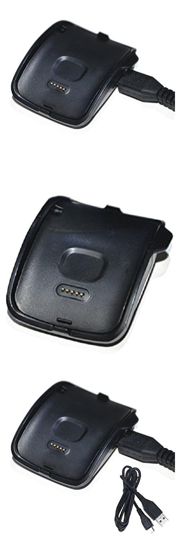 [Visit to Buy] carga para Gear S inteligente reloj SM-R750 cuna cargador del muelle + Cable USB Negro For Samsung #Advertisement