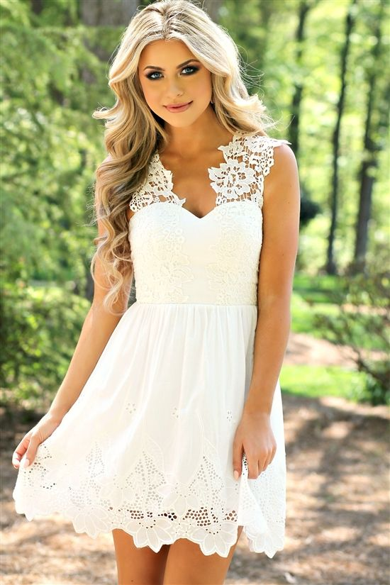 17 best ideas about bridal shower outfits on pinterest for Summer style wedding dresses