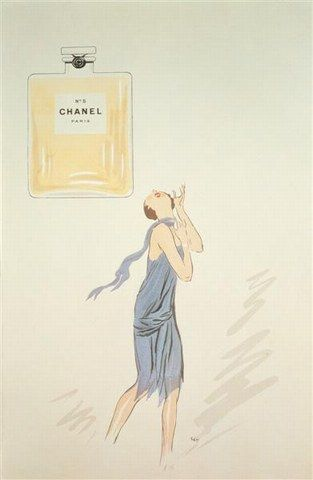 Vintage perfume ads / Chanel    Found at Scented Salamander.    From 1921: