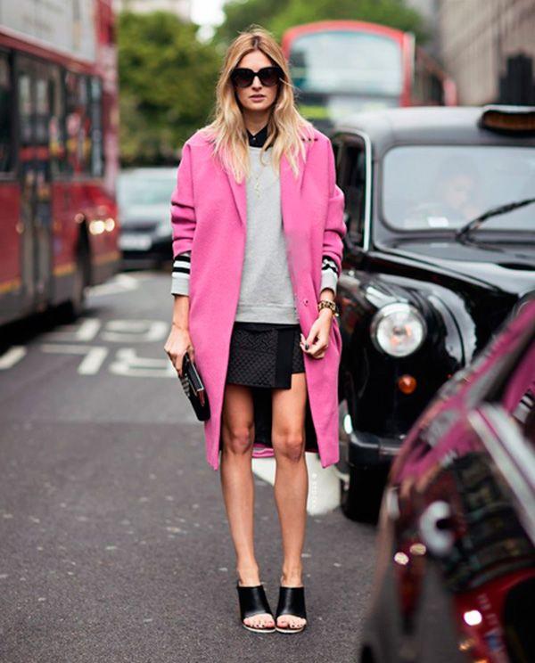 look casaco rosa