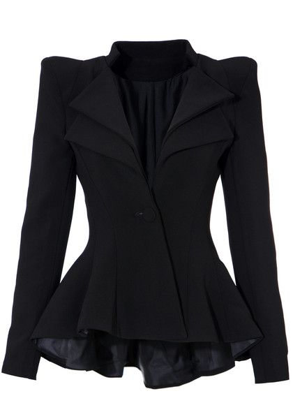 Double Lapel Fit-and-flare Blazer
