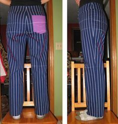 VIDEO TUTORIAL: Trouser pattern adjustment for forward tilted hip | Iconic Patterns. A method of correcting this fitting issue in pants/trousers.
