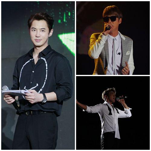 Shinhwa's Shin Hye Sung, Lee Min Woo and Jun Jin Perform in Chongqing Concert