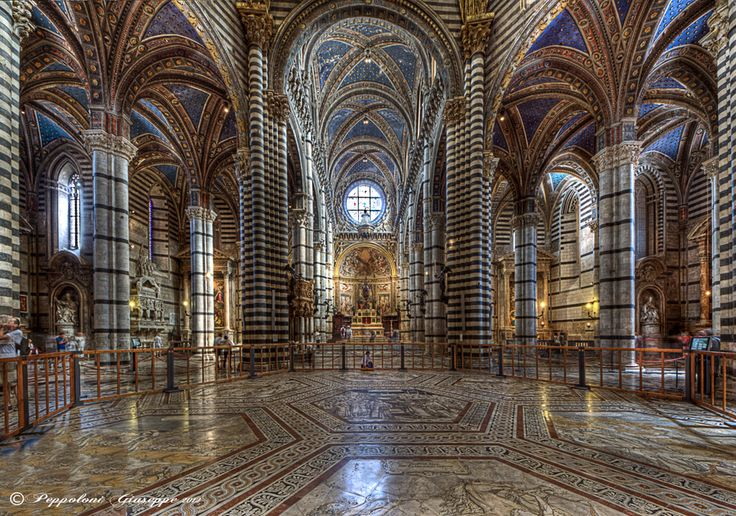 This is the amazing interior of Siena's Cathedral - Il Duomo. From April 6 until October 27, visitors will be able to tour (booking necessary) parts of the Cathedral that have been unaccessible for centuries. This is a once in a lifetime chance for art and Italy lovers not to be missed. Get in touch with Love Umbria for more info and reservations.