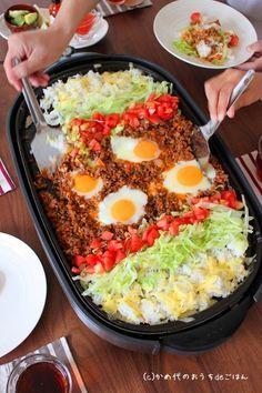 鉄板タコライス風 親子で楽しむホットプレート料理 |かめ代オフィシャルブログ「かめ代のおうちdeごはん」Powered by Ameba