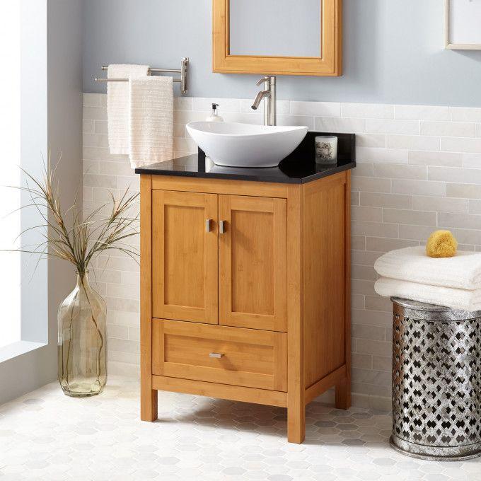 24 Narrow Depth Alcott Bamboo Vessel Sink Vanity Vessel Sink Vanity Vanity Sink Modern Sink Vanity