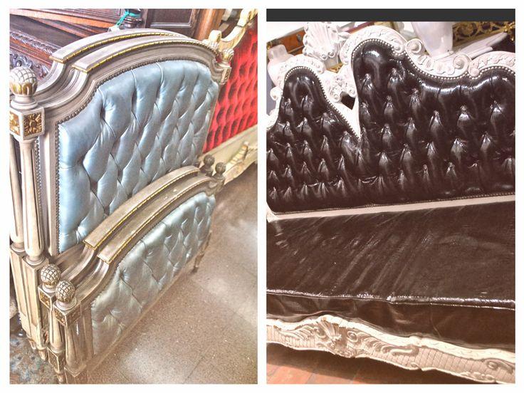 respaldos de camas y sillones totalmente restaurados y tapizados a gusto de cada cliente