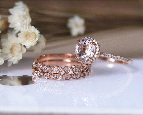 Hey, I found this really awesome Etsy listing at https://www.etsy.com/listing/237370484/vs-morgannite-ring-set-diamond-ring