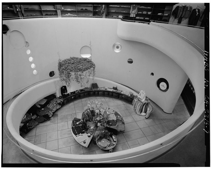 FRANK LLOYD WRIGHT, Morris Gift Shop, interior
