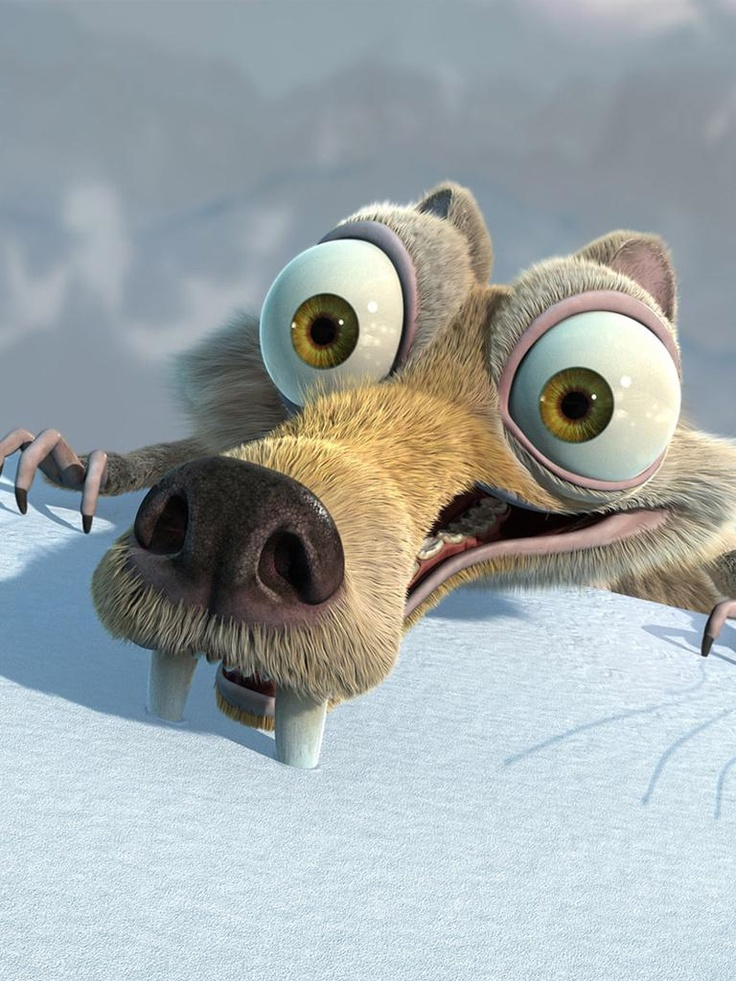 Scrat... determined to get the acorn but... EPIC FAIL!!!!
