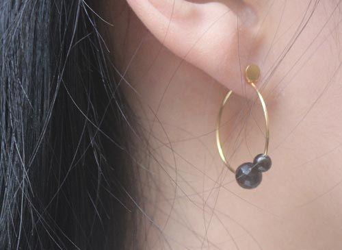Øreringe med Onyx