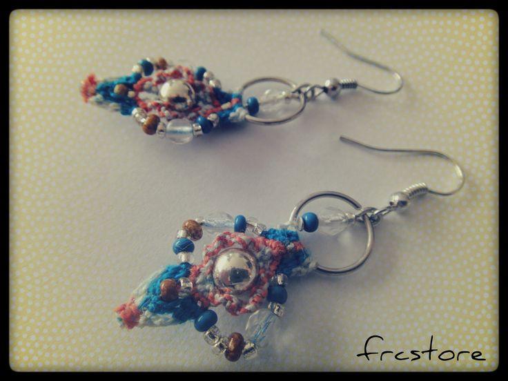 Micromacrame earrings www.frcstore.cz