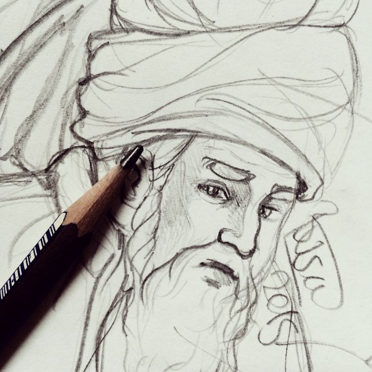 mevlana sketch by instagram.com/birendibadesi/