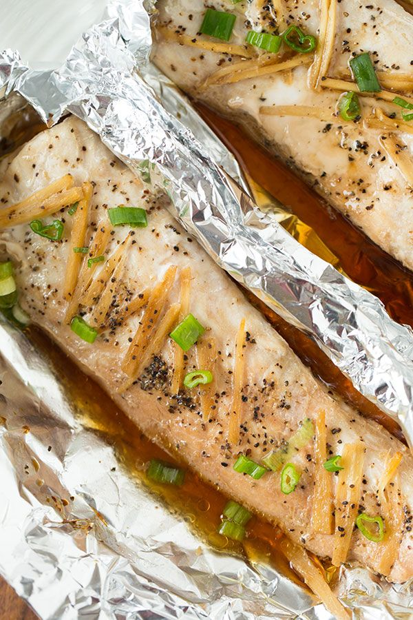 If you're in a pinch, like Asian flavors, and looking for a super simple weeknight meal, this ginger soy sesame fish in a pouch is for you!  You could also make this on the grill.  Just put the pouch on indirect heat!