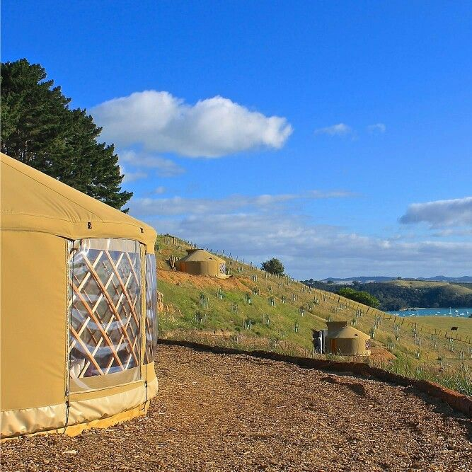 2014 Best Quirky property winners, Simply B Yurts, on Auckland's favourite holiday destination of Waiheke Island offer a unique holiday experience. Overlooking Palm Beach and the Hauraki Gulf and close to vineyards the yurts are ideal for a romantic weekend or health retreat. Book now online - www.bookabach.co.nz/25164