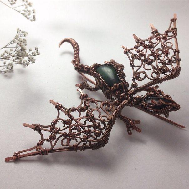 Wire Wrap by Olha/Украшения из проволоки/Украина  – DIY Schmuck Draht