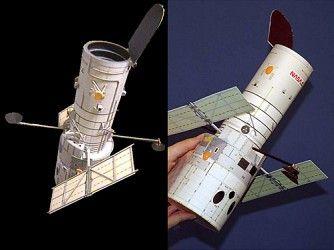 Maqueta de papel gratis Telescopio Hubble de la NASA