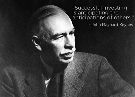 """""""Successful investing is anticipating the anticipations of others."""" - John Maynard Keynes #quote"""