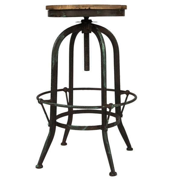 Чудесный барный стул с деревянным сидением и удобной металлической подставкой для ног.             Метки: Табуреты для кухни.              Материал: Металл, Дерево.              Бренд: American Interiors.              Стили: Лофт, Скандинавский и минимализм.              Цвета: Коричневый, Темно-коричневый, Черный.