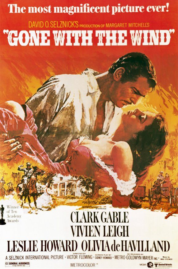 CAST: Clark Gable, Vivien Leigh, Olivia de Havilland, Leslie Howard, Thomas Mitchell, Hattie McDaniel, Butterfly McQueen; DIRECTED BY: Victor Fleming; PRODUCER: MGM David O. Selznick, David O. Selznic                                                                                                                                                      More