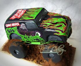 Cool monster truck cake