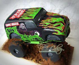 Cool monster truck cake