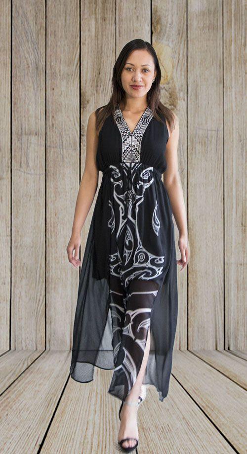 Black Evening Dress- Manaia