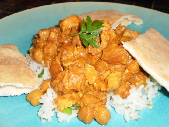 Crock Pot Moroccan Chicken, Chickpea And Apricot Tagine