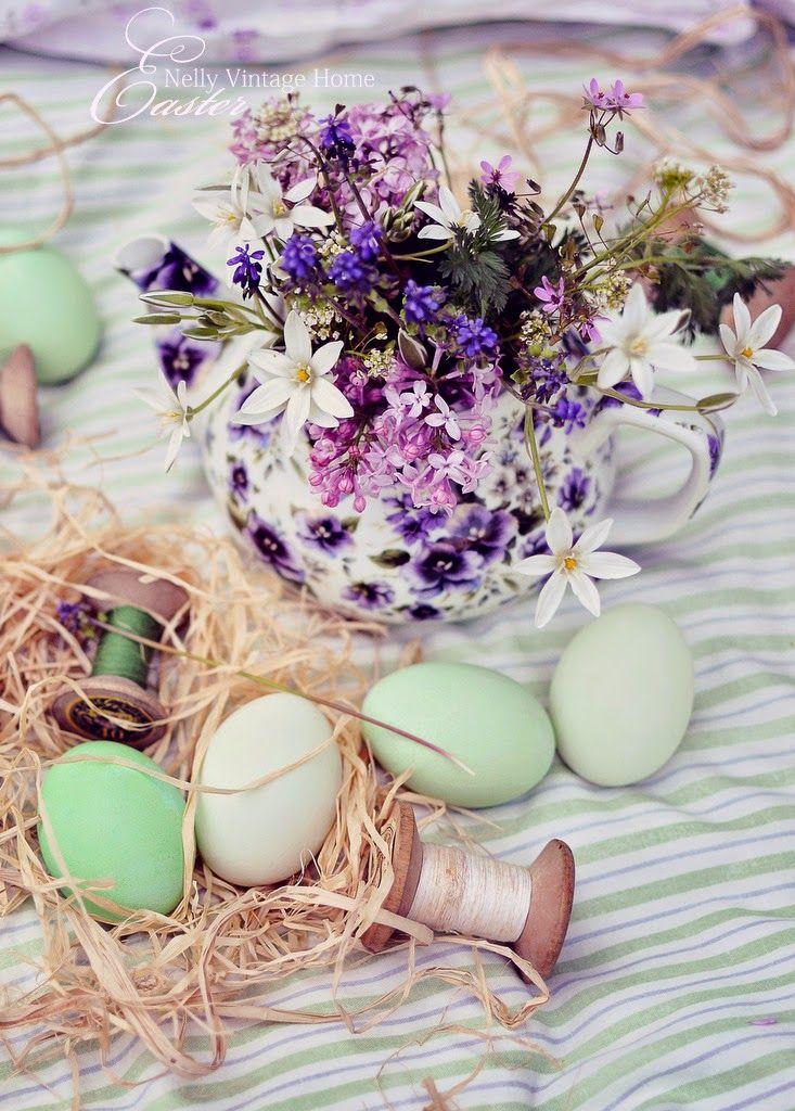 nelly vintage home: Великденско и шарено