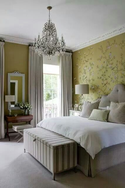 Bedroom Gray and Yellow brightens up this bedroom