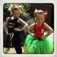 Tutubelle.co.uk superheroine tutu costumes batman tutu robin tutu handmade custom dressing up party outfits #tutubelle #batmantutu #robintutu