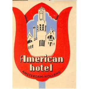American Hotel Amsterdam Holland luggage label tulip : Label ...