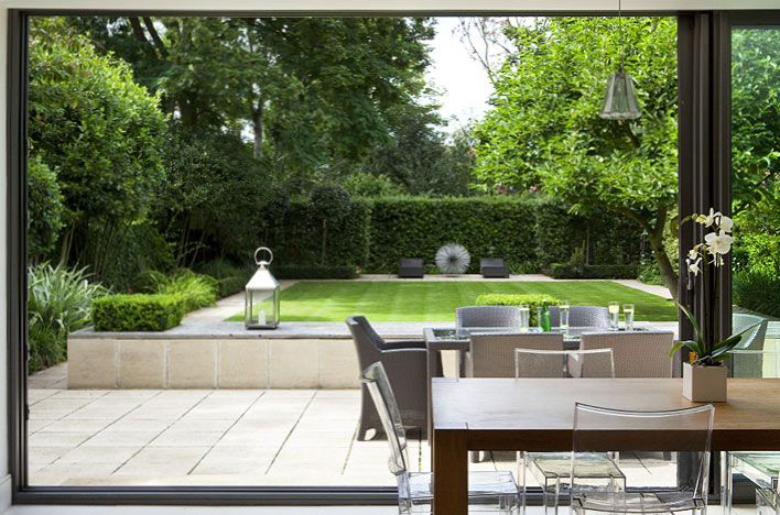 clipped evergreen and formal structures - contemporary garden by buckleydesignassociates