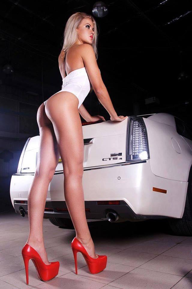 Heels girls high hot cars