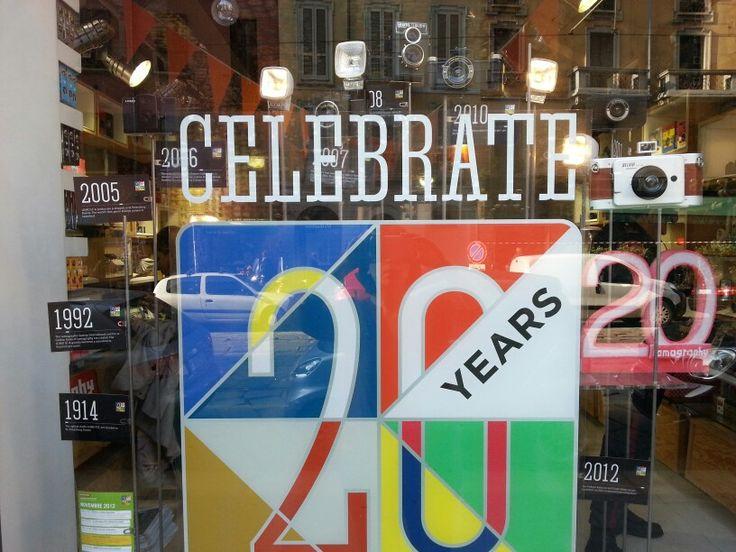 20 years of Lomography, shopping window