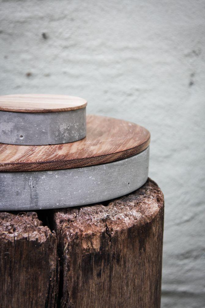 cajas de cemento con tapa de madera
