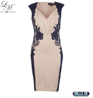 Dámske oblečenie | Dámske šaty | Little Mistress Lace trim šaty tmavomodré | www.nells.sk - Parfumy, kozmetika a oblečenie svetových značiek.
