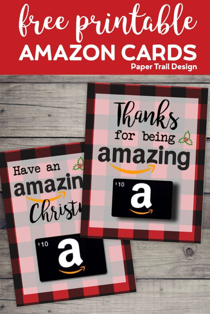 Best Gift Cards For Christmas 2020 Printable Christmas Gift Card Holders for Amazon in 2020