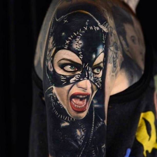 Cat Women 3D Arm Tattoo   #Tattoo, #Tattooed, #Tattoos