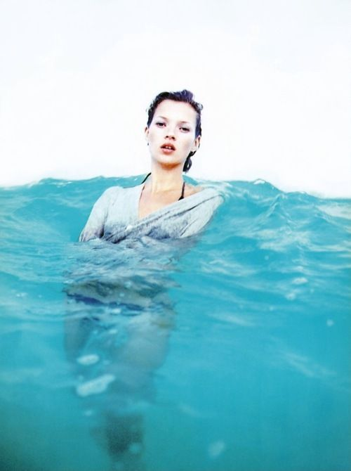 Oh Kate: Water, Swim Pools, Harpers Bazaars, The Ocean, Color Stories, Katemoss, Fashion Photography, Deep Blue, Kate Moss