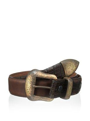 55% OFF Vintage Bison Men's Tuscon Belt (Brown)