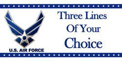 personalized theme banners party supplies - personalized air force banner
