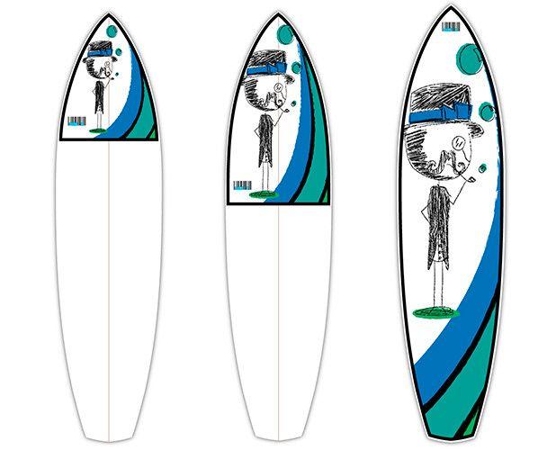 Derpy Man   CTRL V   Surfboard Customisation   Surfboard Wall Art   Surfboard decals   Surfboard Designs