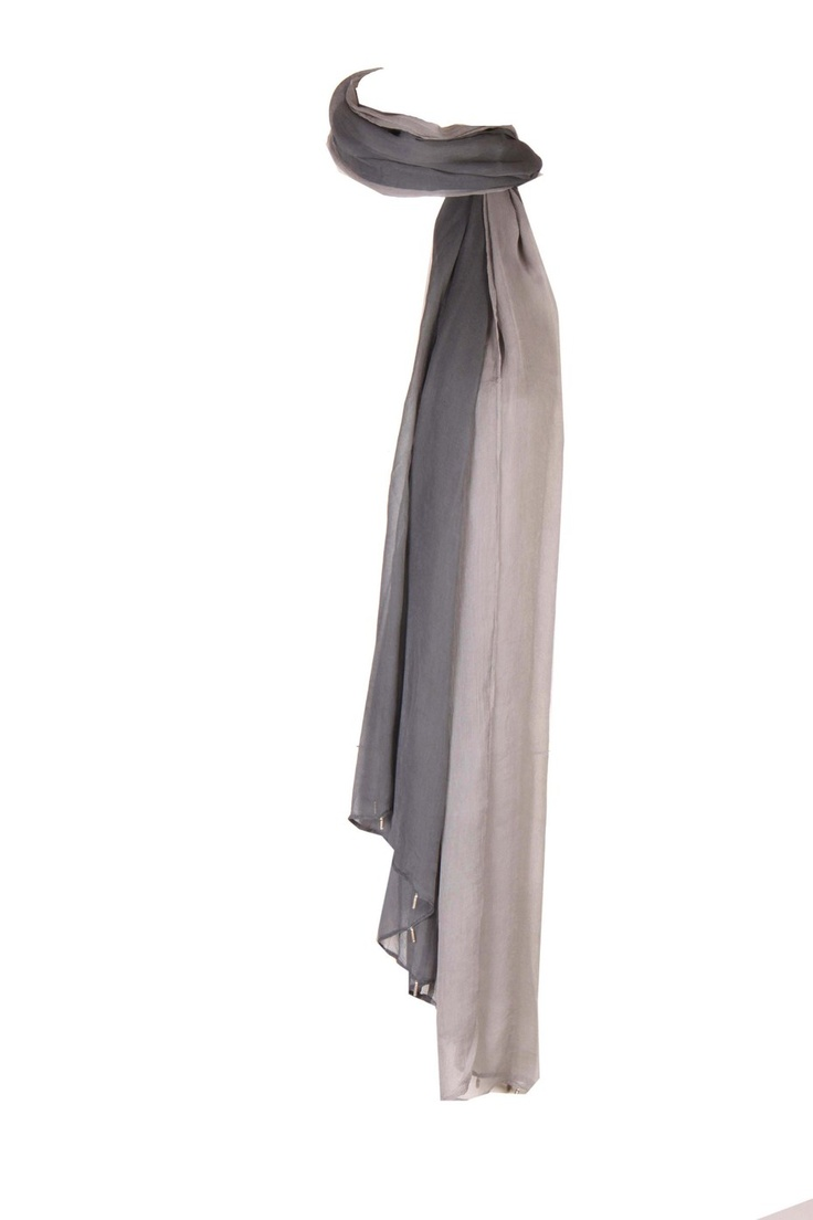 Castle Rock Solid Dupatta In Bi Colour In Chiffon Mix With Pleats At Lengths And Hangings At Both Ends And Pin Fold Finish Around The Edges; Non Crinkled And 2.25M In Length #Wishful #Fashion #Style #Colors #Drapes #W for #Woman