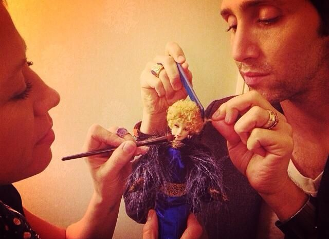 #EffieBarbie in hair and makeup with Fiona Stiles and Adir Abergel.: Fiona Stiles, Makeup Artists, Hair Guru, Adir Abergel, Guru Adir, Effie Adventure, Effie Barbie, Hair And Makeup, Artists Fiona