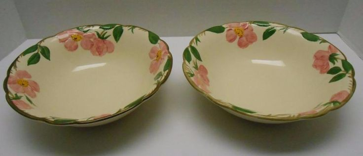 "Vintage Franciscan Desert Rose Pair 9"" Serving Bowls Vegetable Dish 1950's #Franciscan #servingbowls #midcentury"