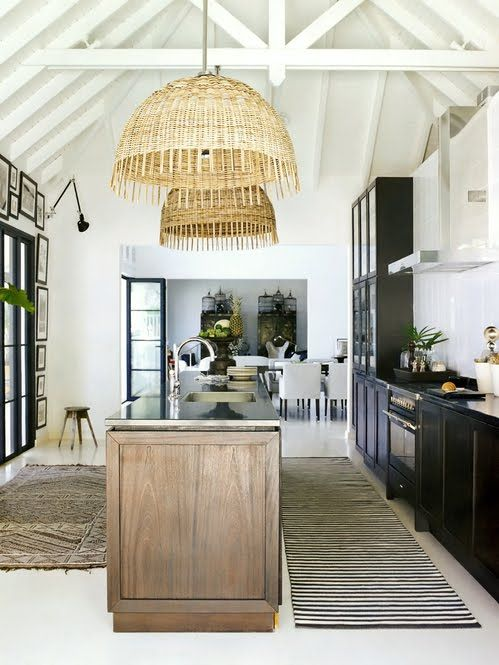 Great kitchen space in St Barth.